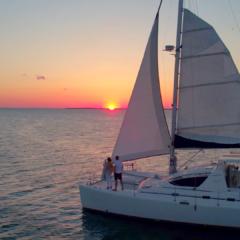 catamarano vela trek